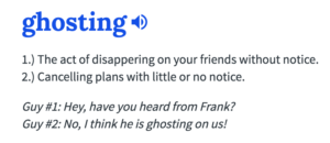 definition of ghosting urban dictionary